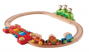 Hape treinset Music & Monkeys 19-delig
