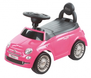 Happy Baby loopauto Fiat 500 roze