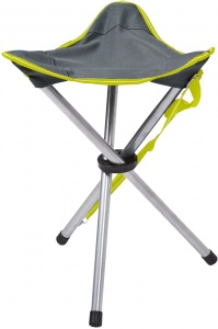 Happy People campingstoel Tripod 47 cm grijs