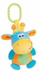 Happy People knuffeldier giraffe junior 18 cm pluche geel