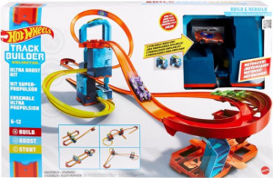 Hot Wheels boosterset Track Builder junior 127 cm blauw 22-delig