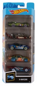 Hot Wheels cadeauset X-Raycers 7,5 cm 5-delig (FYL20)