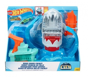 Hot Wheels racebaanset City Robo Shark Frenzy