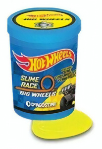 Hot Wheels verrassingsslijm met auto Power 1 Oil 2-delig