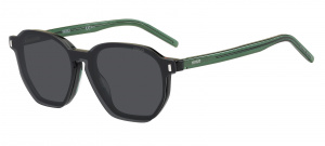 Hugo Boss zonnebril 1110/CS clip-on heren wayfarer zwart/groen