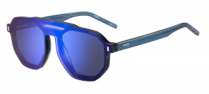 Hugo Boss zonnebril 1113/CS clip-on heren cat. 3 piloot blauw