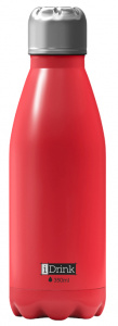 I-Drink thermosfles 350 ml RVS rood