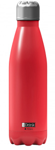 I-Drink thermosfles 750 ml RVS rood