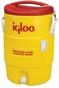 Igloo drankdispenser 5 Gallon 400 Series 18 liter geel/rood