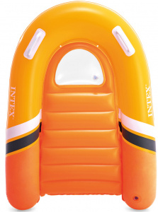 Intex bodyboard opblaasbaar junior 120 x 89 cm vinyl oranje
