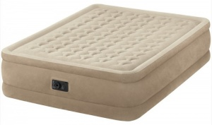 Intex luchtbed 2-persoons Ultra Plush beige 203 x 152 x 46 cm