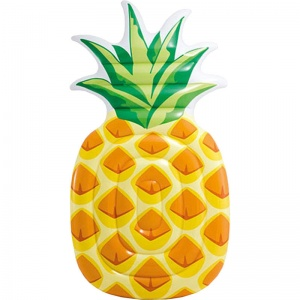 Intex luchtbed ananas 216 x 124 cm geel