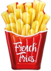 Intex luchtbed French Fries 175 x 132 cm rood