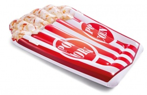 Intex luchtbed Popcornmat 178 x 124 cm rood/wit
