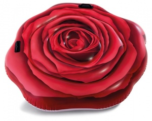 Intex luchtbed Red Rose 137 x 132 cm rood