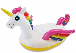 Intex opblaasdier Unicorn 287 x 193 x 165 cm wit