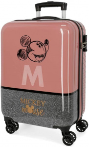 Jim Jam Bags concepts Mickey Mouse koffer 34 liter bruin/zilver