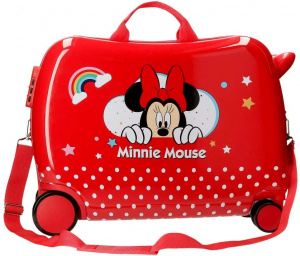 Jim Jam Bags concepts Minnie Mouse ride-on koffer 34 liter rood