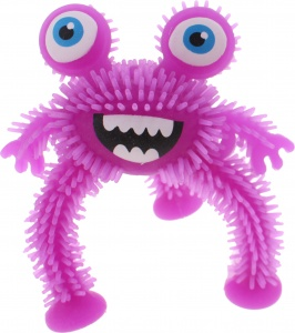 Johntoy driepotig monster 10 cm paars