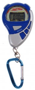 Johntoy stopwatch Sports Active met alarm blauw