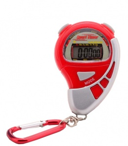 Johntoy stopwatch Sports Active met alarm rood