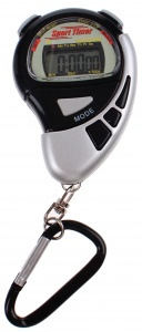 Johntoy stopwatch Sports Active met alarm zwart