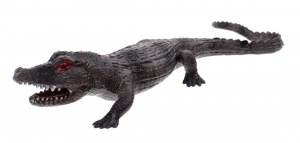 Johntoy stretchy creatures krokodil 20 cm bruin