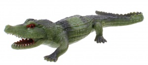Johntoy stretchy creatures krokodil 20 cm groen