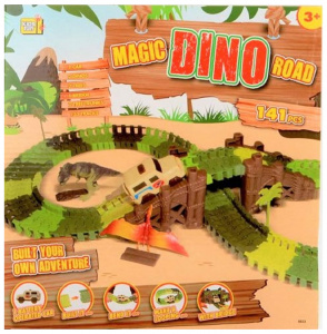 Jonotoys racebaan Magic Road Dino junior 141-delig