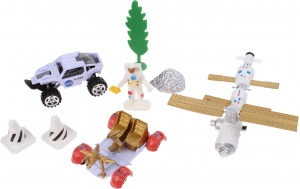 Jonotoys speelset Space Team Die-Cast 8-delig