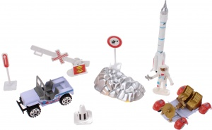 Jonotoys speelset Space Team Die-Cast 9-delig