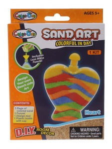 Jonotoys zand-art Color Day Hart multicolor 8-delig