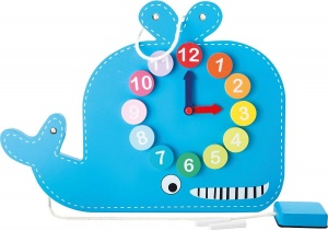 Jumini whale leather bell and blackboard 39 cm blue