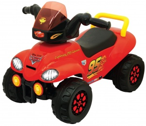Kiddieland loopwagen Cars Ride-On jongens rood