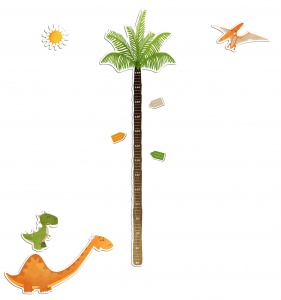 Kids Decor sticker groeimeter dinosaurus 145 cm