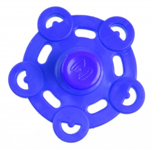 Kids Fun Magic Jumping Spinner 5 blauw