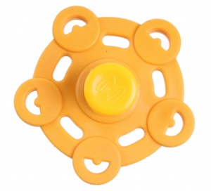 Kids Fun Magic Jumping Spinner 5 geel