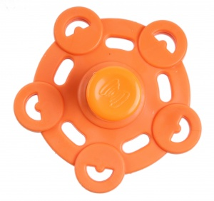 Kids Fun Magic Jumping Spinner 5 oranje