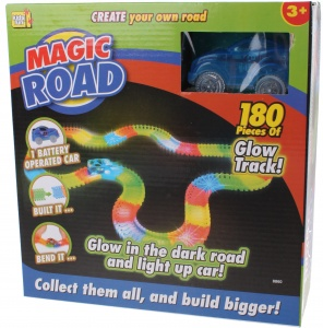 Kids Fun racebaan Magic road blauw 180-delig