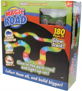 Kids Fun racebaan Magic road groen 180-delig