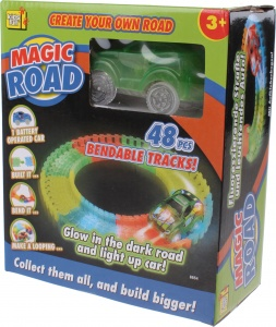 Kids Fun racebaan Magic road groen 48-delig