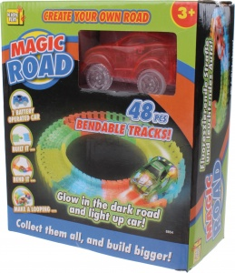 Kids Fun racebaan Magic road rood 48-delig