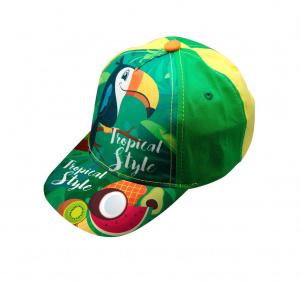 Kids Licensing glitterpet Tropical Style Toucan junior katoen groen