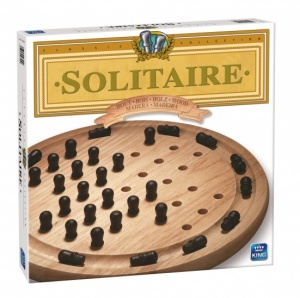King strategiespel Solitaire hout