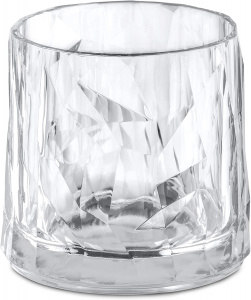 Koziol whiskyglas Club No. 2 250 ml polycarbonaat transparant