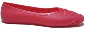 Lacoste Ithia Jelly Ballerina's Dames Rood