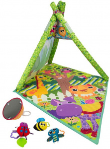 Lamaze speelmat 4-in-1 junior 61x 46 x 50 cm groen 5-delig