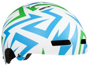 Lazer kinderhelm Street-Electric junior 52-56 cm wit/blauw