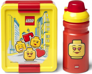 LEGO lunchset Iconic junior 17 x 13,5 cm pp rood/geel 2-delig