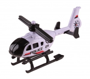 LG-Imports schaalmodel Patrol Police helikopter 7 cm wit